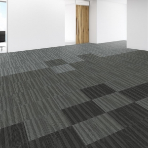 Side view of blank white wall in office interior. Mock up, 3D Rendering